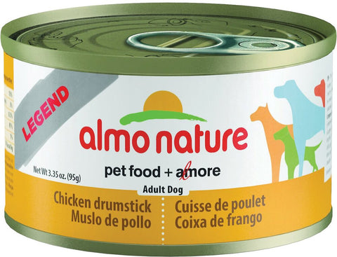 46278 Almo Nature USA HQS Dog Legend Chicken Drumstick 24/3.35oz