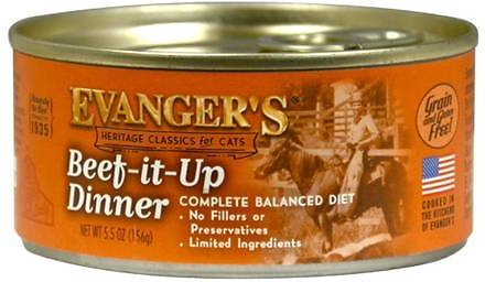 Evanger's Classics Line Beef-It-Up Grain-Free Canned Cat Food 24 pk/5.5 oz
