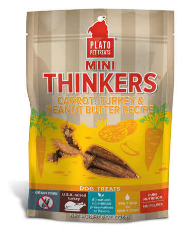 Plato Pet Treats Mini Thinkers Carrot, Turkey & Peanut Butter Recipe