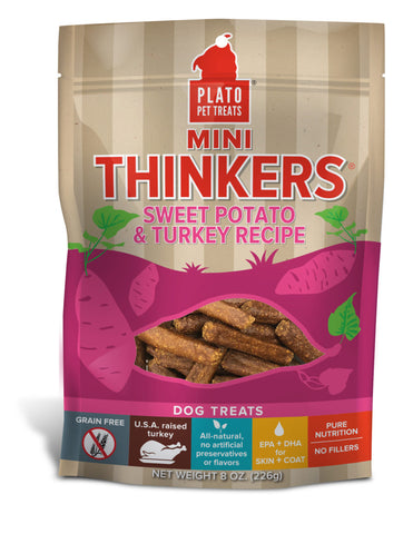 Plato Pet Treats Mini Thinkers Sweet Potato & Turkey Recipe