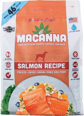 Grandma Lucy's Macanna Grain Free Freeze Dried Salmon Dog Food