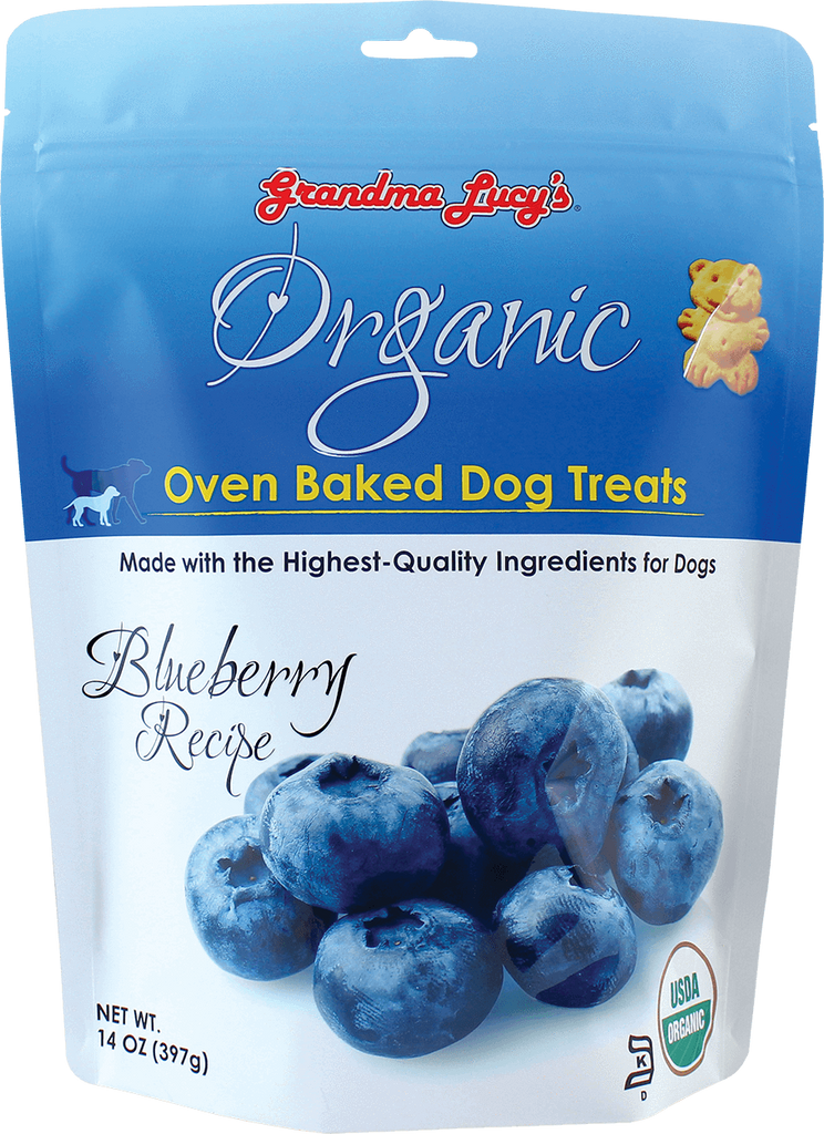 Grandma Lucy's Organic Oven Baked Dog Treats Blueberry 14 oz Bag