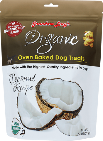 Grandma Lucy's Organic Oven Baked Dog Treat Coconut 14 oz Bag