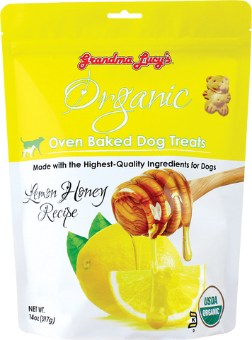 Grandma Lucy's Organic Oven Baked Dog Treat Lemon & Honey 14 oz Bag
