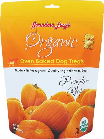 Grandma Lucy's Organic Oven Baked Dog Treat Pumpkin 14 oz Bag