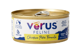 VeRUS Grain Free Chicken Pate Formula Cat Food 24 pk/5.5 oz cans