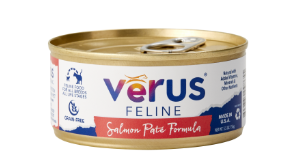 VeRUS Grain Free Salmon Pate Formula Canned Cat Food 24 pk/ 5.5 oz cans