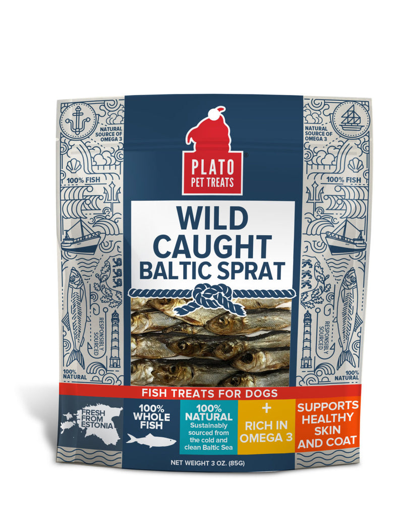 Plato Pet Treats Wild Caught Baltic Sprat 3 oz Bag