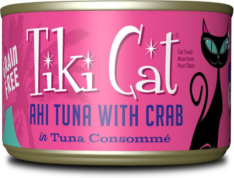 Tiki Cat Hana Grill - Ahi Tuna with Crab in Tuna Consomme Grain-Free Canned Cat Food 8 pk/6 oz
