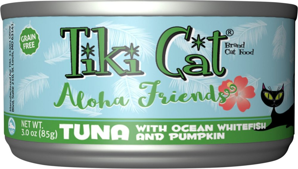 Tiki Cat Aloha Friends Tuna with Ocean Whitefish & Pumpkin Grain-Free Canned Cat Food - 12 pk/3 oz cans
