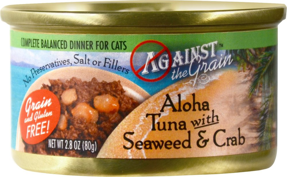 Against the Grain Aloha Tuna with Seaweed & Crab Dinner for Cats - 24 pk/2.8 oz