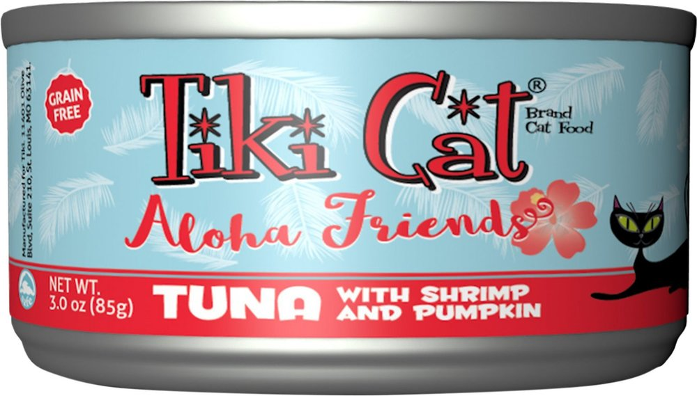 Tiki Cat Aloha Friends Tuna with Shrimp & Pumpkin Grain-Free Canned Cat Food - 12 pk/3 oz cans