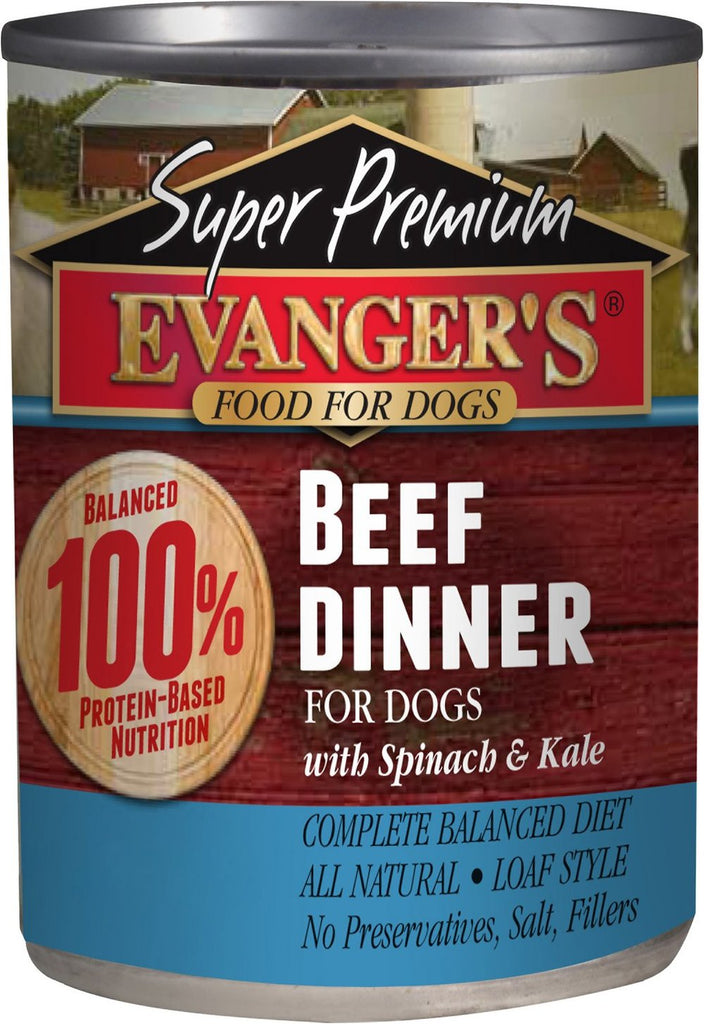 Evangers Super Premium Grain-Free Beef Dinner Canned Dog Food  12 pk/12.8 oz