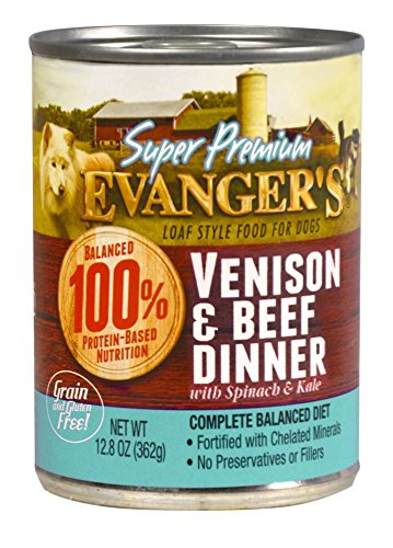 Evanger's Super Premium Grain-Free Venison and Beef Canned Dog Food 12 pk/12.8 oz