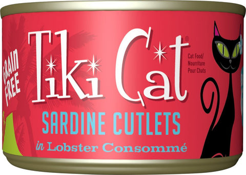 Tiki Cat Bora Bora Grill - Sardine Cutlets in Lobster Consomme Grain-Free Canned Cat Food - 8 pk/6 oz cans
