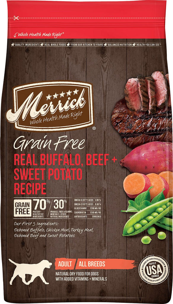 Merrick Pet Food Grain-Free Real Buffalo + Sweet Potato Recipe