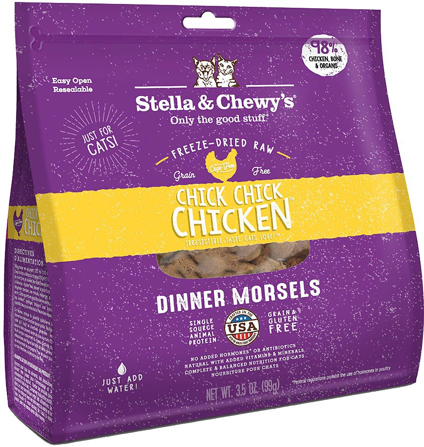 Stella & Chewy's Freeze Dried Raw Dinner Morsels for Cats Chick Chick Chicken Dinner Morsels