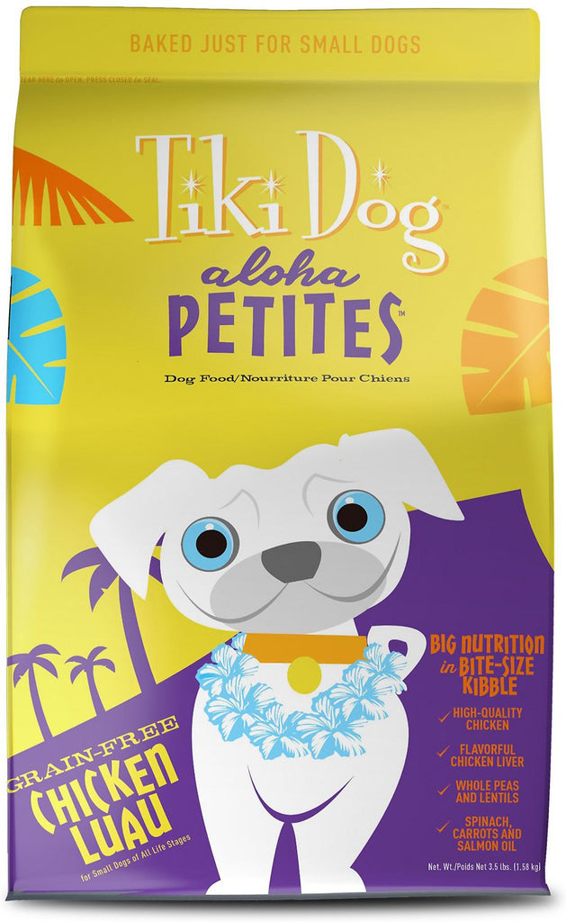 Tiki Dog Aloha Petites Chicken Luau Grain-Free Dry Dog Food 3.5 lb