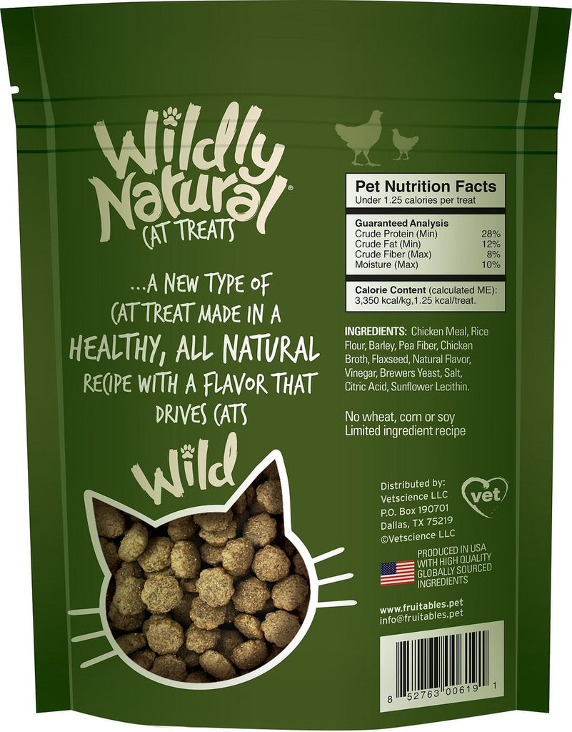 Fruitables Wildly Natural Chicken Flavor Cat Treats 2.5 oz