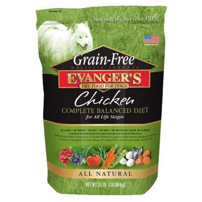 Evanger's Grain-Free Chicken with Sweet Potato & Pumpkin Recipe Dry Dog Food 4.4 lb