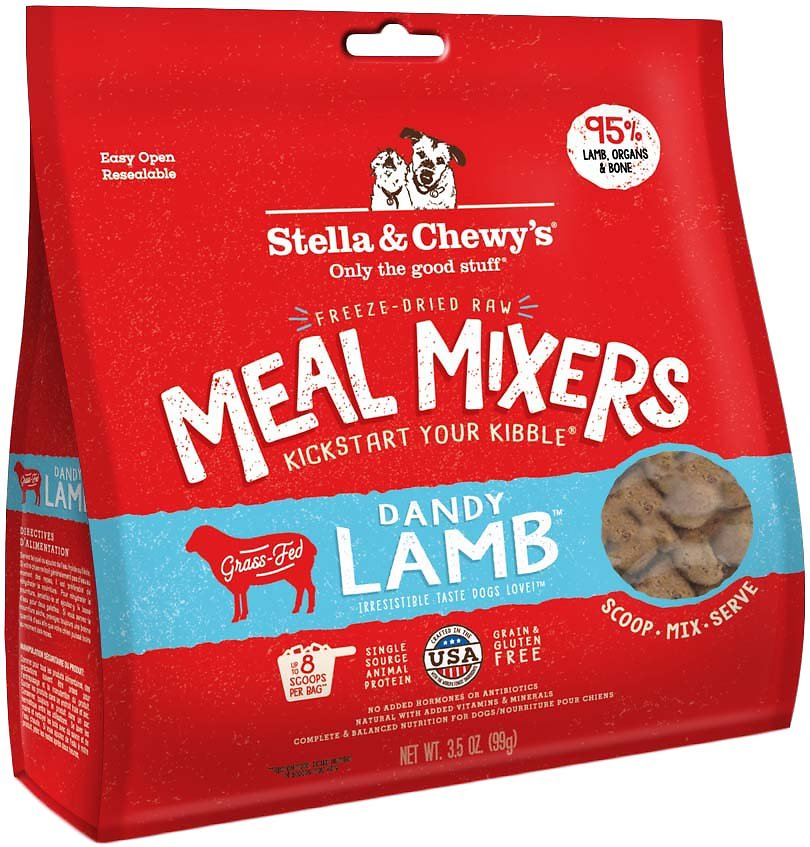 Stella & Chewy's Meal Mixers Freeze Dried Raw Food Topper Dandy Lamb