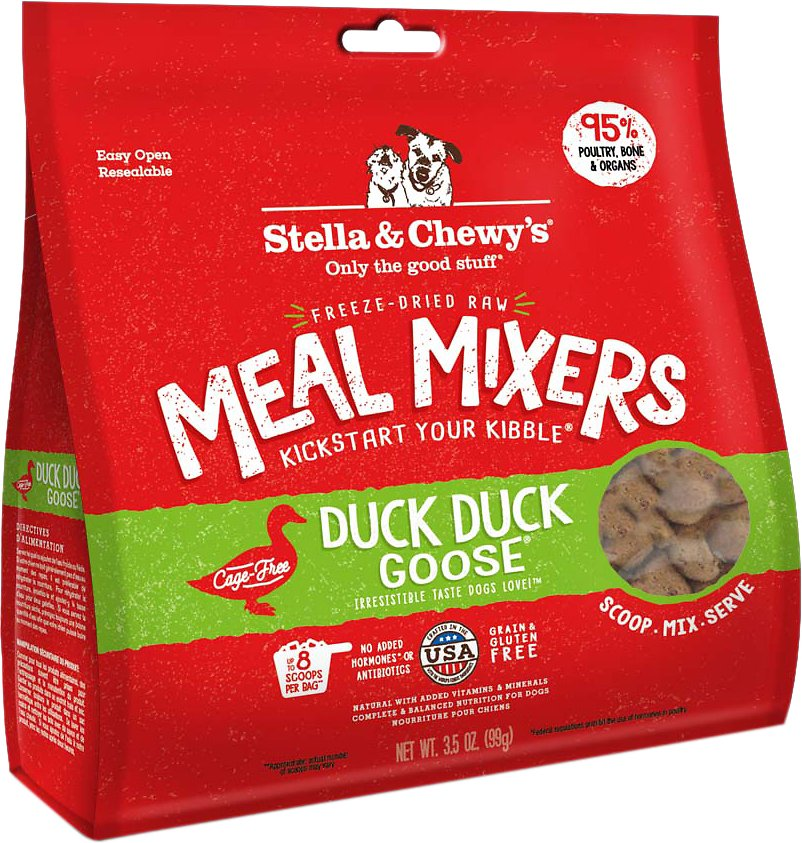 Stella & Chewy's Freeze Dried Raw Meal Mixer Food Topper Duck Duck Goose