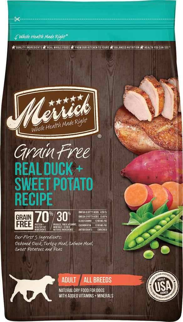 Merrick Pet Food Grain-Free Real Duck + Sweet Potato Recipe