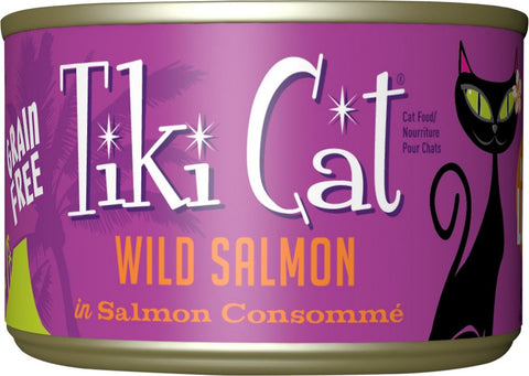 Tiki Cat Hanalei Luau Wild Salmon in Salmon Consomme Grain-Free Canned Cat Food 8 pk /6 oz