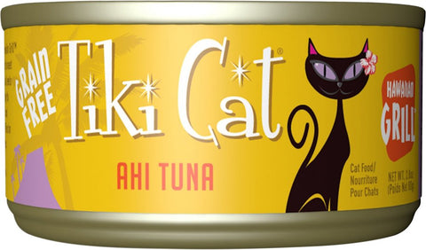 Tiki Cat Hawaiian Grill - Ahi Tuna  Grain-Free Canned Cat Food- 12 pk/2.8 oz cans