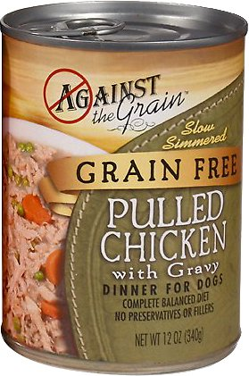 Against the Grain Hand Pulled Chicken with Gravy Dinner for Dogs - 12 pk/12 oz cans