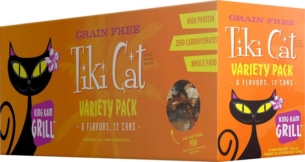 Tiki Cat King Kamehameha Grill Variety Pack - 12/2.8oz Cans