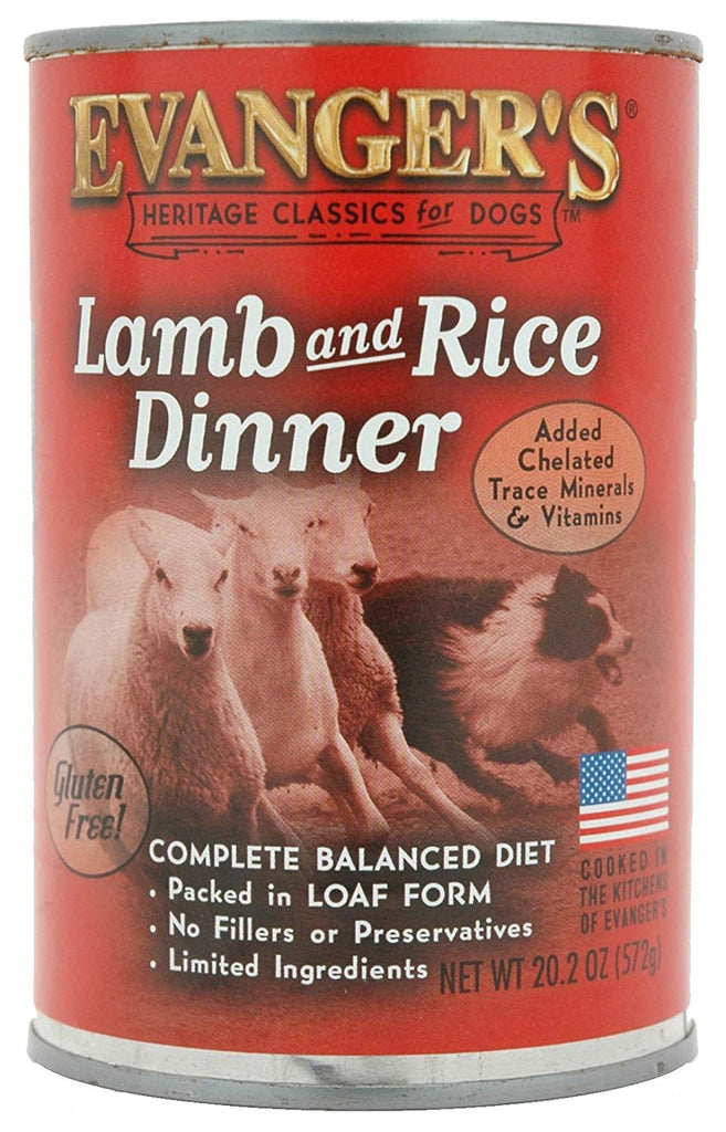 Evanger's Heritage Classics Lamb & Rice Gluten -Free Canned Dog Food 12 pk/20.2 oz