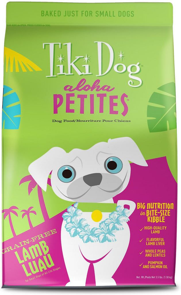 Tiki Dog Aloha Petites Lamb Luau Grain-Free Dry Dog Food 10 lb Bag