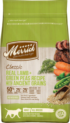Merrick Classic Real Lamb + Green Pea Recipe with Ancient Grains