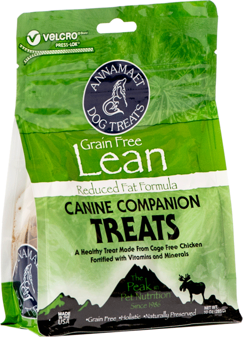 Annamaet Petfoods-Grain Free Lean Dog Treats 10 oz bag
