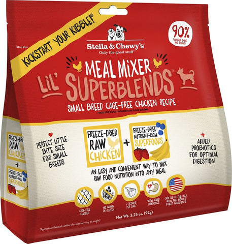Stella & Chewy's Lil' Superblends Meal Mixers Food Topper For Small Breed Dogs - Cage Free Chicken