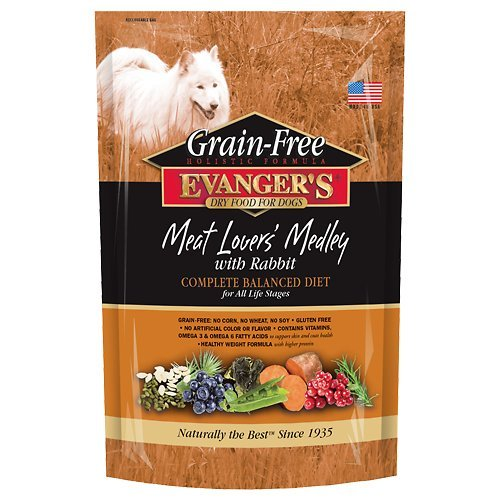 Evanger's Grain-Free Meat Lover's Medley with Rabbit Dry Dog Food 33 lb