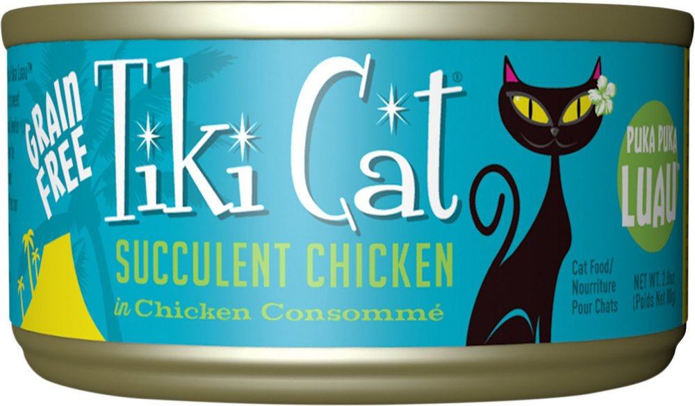 Tiki Cat Puka Puka Luau- Succulent Chicken in Chicken Consomme Grain-Free Canned Cat Food 12 pk/2.8 oz