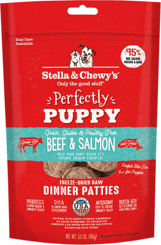 Stella & Chewy's Perfectly Puppy Beef & Salmon Dinner Patties