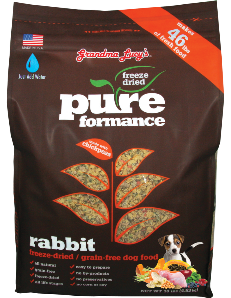 Grandma Lucy's Pureformance Grain Free Freeze Dried Rabbit Dog Food