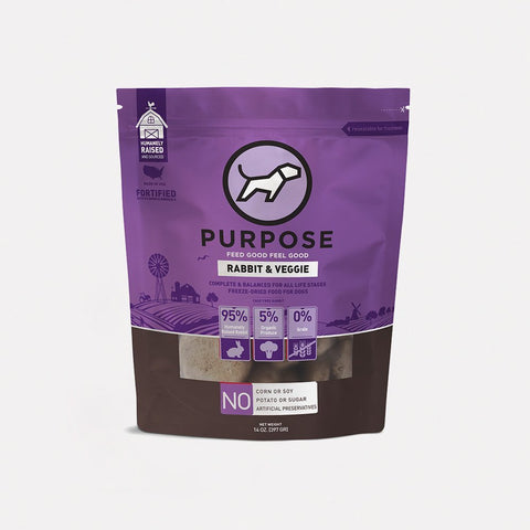 Purpose pet food freeze dried rabbit/vegetable 14oz patties