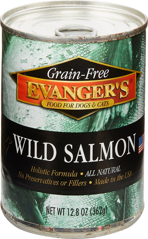 Evanger's Grain-Free Wild Salmon Canned Dog and Cat Food 12 pk /12 oz
