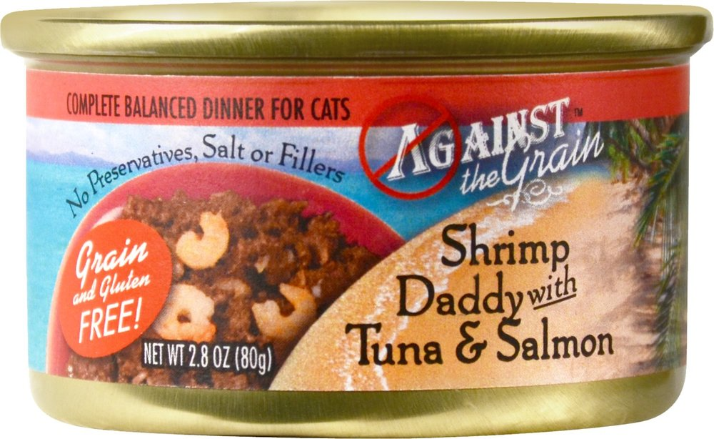 Against the Grain Shrimp Daddy with Tuna & Salmon Dinner For Cats- 24 pk/2.8 oz