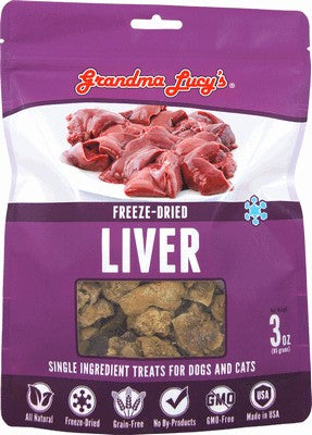 Grandma Lucy's Freeze Dried Single Ingredient Liver Pet Treat 4 oz Bag