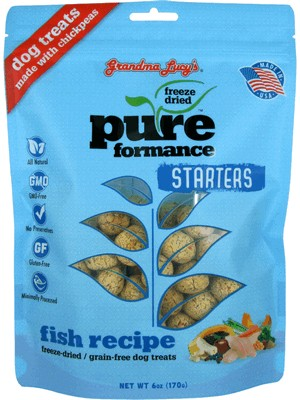 Grandma Lucy's Grain Free Freeze Dried Pureformance Fish Dog Treat 6 oz Bag