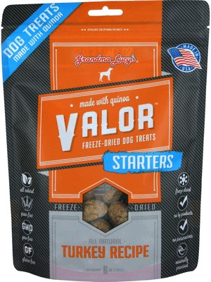 Grandma Lucy's Grain Free Freeze Dried Valor Turkey Dog Treat 6 oz Bag
