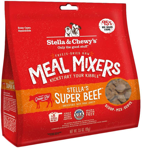 Stella & Chewy's Freeze Dried Raw Meal Mixers Food Topper Stella's Super Beef