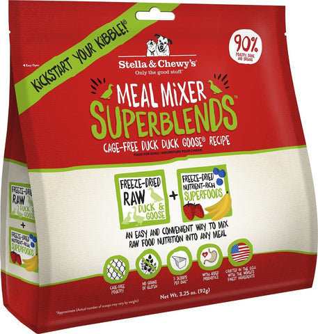 Stella & Chewy's Superblends Meal Mixers Food Topper For Dogs - Cage Free Duck Duck Goose