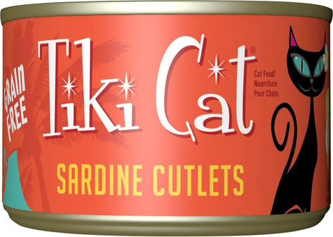 Tiki Cat Tahitian Grill - Sardine Cutlets Grain-Free Canned Cat Food- 12 pk/2.8 oz cans