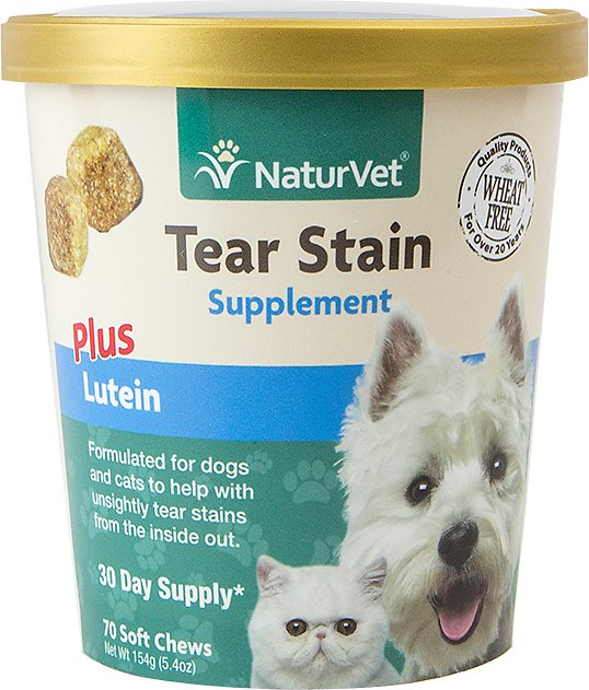 NaturVet Tear Stain + Lutein Soft Chews - 70 ct